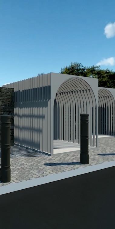 Archi Cimitero Oliveto Citra